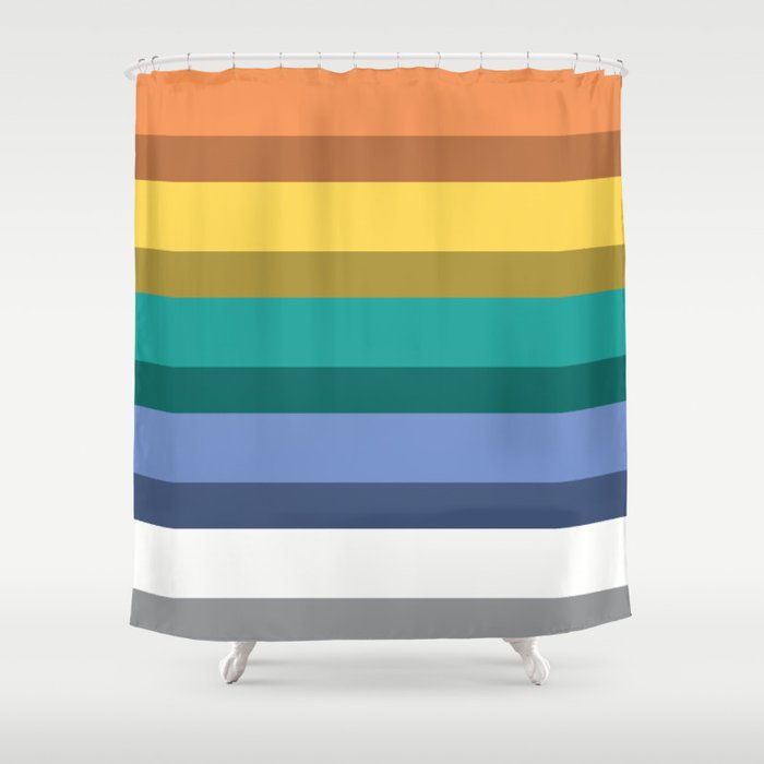 Accordion Fold Series Style B Shower Curtain By Starflyer
