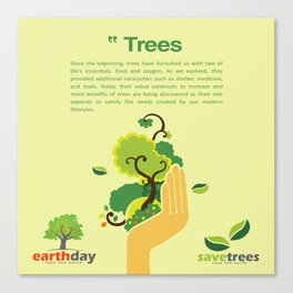 Save Trees Canvas Print