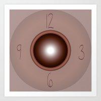 wall clock Art Prints featuring wall clock by Christian Haberäcker - acryl abstract