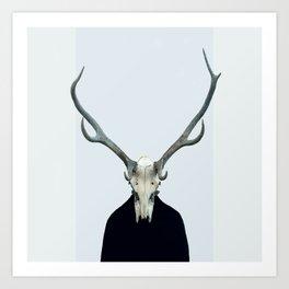 Living Skull and Horns Art Print