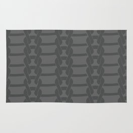 Knitting lovers grey - Holiday collection Rug