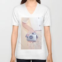 old school V-neck T-shirts featuring OLD SCHOOL by Paige Lillian