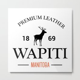 Manitoba Premium Leather Metal Print