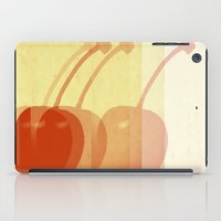 cherry iPad Cases featuring cherry by cubik rubik