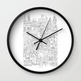 Glasgow, a cone in a haystack Wall Clock