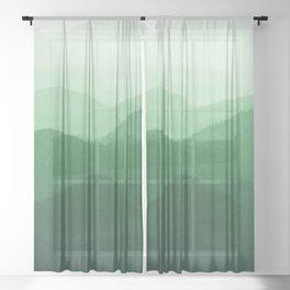 Hunter Mountain summer Sheer Curtain