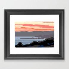 CA coastal scenic #4 Framed Art Print