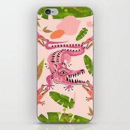 Crocodile love 2 iPhone Skin