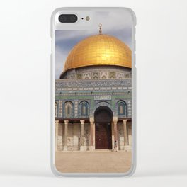 Dome of the Rock, Temple Mount, Jerusalem Clear iPhone Case