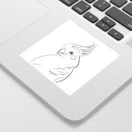 Parrot one line drawing Sticker