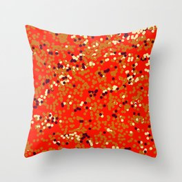 dots on red Throw Pillow