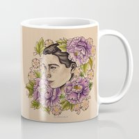 bjork Mugs featuring Bjork by alxbngala