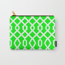 Grille No. 3 -- Lime Carry-All Pouch
