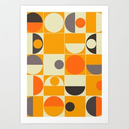 PANTON ORANGE Art Print