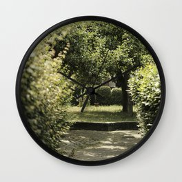 A romantic green park in Zutphen, The Netherlands    Pastel Color   Street Photography   Travel Photography   Fine Art Photo Print Wall Clock