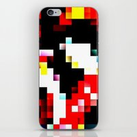 pixel iPhone & iPod Skins featuring pixel by shopcicelysiller