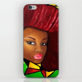 Grounded - Afro Natural Hair Art iPhone Skin