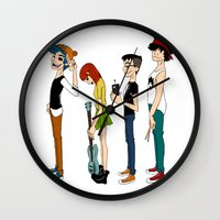 gorillaz Wall Clocks featuring Grojband by Hardcore Cuties