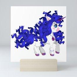 Unicorn pony Fashionista Mini Art Print