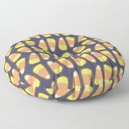 Candy Corn Tango in Navy Floor Pillow