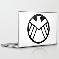 shield Laptop & iPad Skins featuring SHIELD by Bastien13