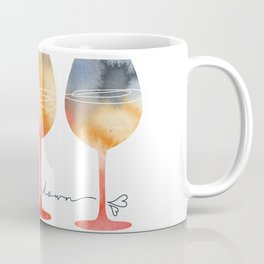 Time to Wine Down Watercolour Coffee Mug