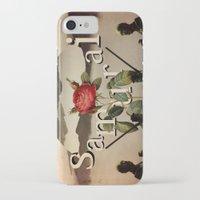 samurai iPhone & iPod Cases featuring samurai by Rosa Picnic