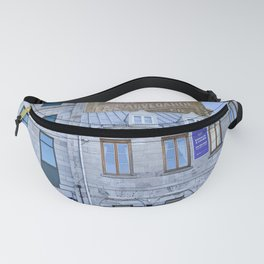 Photograph of Old Stone Buildings on a Clear Day in Old Port Montreal Fanny Pack
