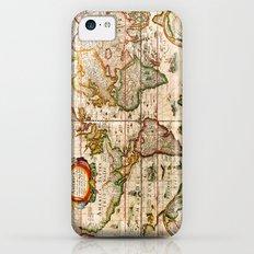 Vintage Map iPhone 5c Slim Case