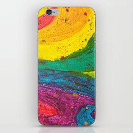 Rainbow Abstract #6 iPhone Skin
