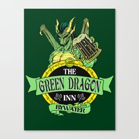 lotr Canvas Prints featuring LOTR - The Green Dragon Inn - Bywater by Immortalized