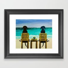 Beach Bums Framed Art Print
