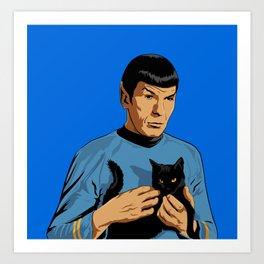 Spock's cat Art Print