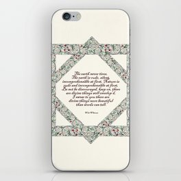 Whitman and the world iPhone Skin