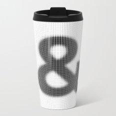 Halftone Ampersand Sans Serif Metal Travel Mug