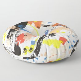 Abstract Floral Splash Floor Pillow