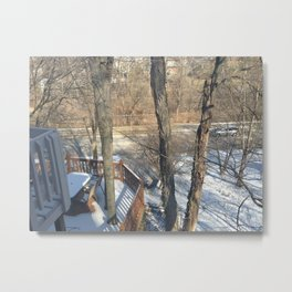 Snowy Cliff Metal Print
