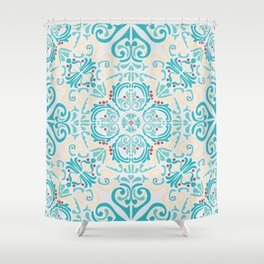 Mediterranean seamless wallpaper folk print Shower Curtain