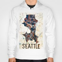 seattle Hoodies featuring Seattle by Artful Schemes