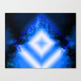 Crystals blues Canvas Print