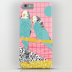 Hottie - throwback retro 1980s 80s style memphis dots bird art neon cool hipster college dorm art iPhone 6 Plus Slim Case