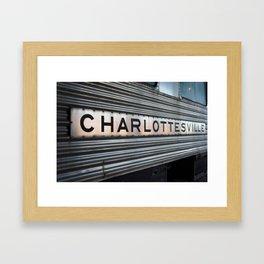 Charlottesville Framed Art Print
