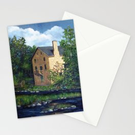 Old Stone Grist Mill, Acrylic Painting Stationery Cards
