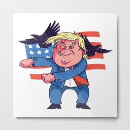 Dancing Trump Metal Print