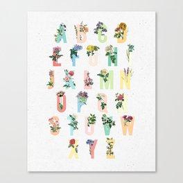 Botanical Alphabet Canvas Print