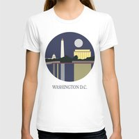 washington T-shirts featuring Washington D.C by uzualsunday