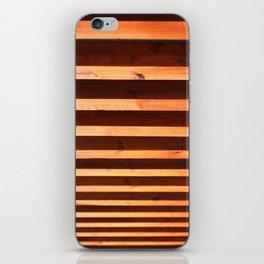 Wooden beams iPhone Skin