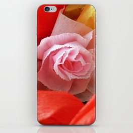 Paper handmade flowers iPhone Skin
