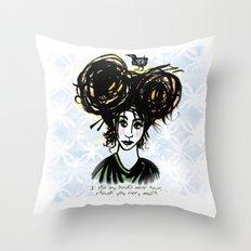 Bird's Nest Hair Throw Pillow