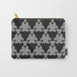 Black Marble Triangle Design Carry-All Pouch